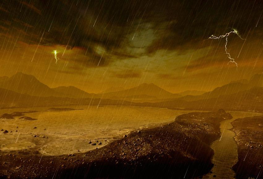 дождь на Титане